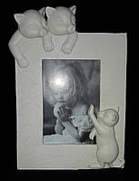 """Красивая фоторамка """"Котики"""", поликерамика, 17х14 см., фото-11х7.5 см., 195/153 (цена за 1 шт. + 42 гр.)"""