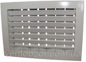 Решетка алюминиевая вентиляционная двухрядная регулируемая рычагом РДРР3