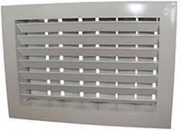 Решетка алюминиевая вентиляционная двухрядная регулируемая рычагом РДРР1