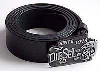 Ремень кожаный с закрытой пряжкой Diesel для джинс