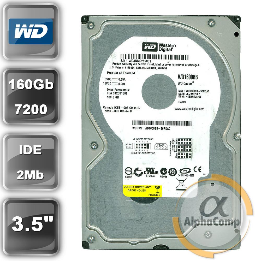 """Жесткий диск 3.5"""" 160Gb WD WD1600BB (2Mb/7200/IDE) БУ"""