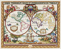 Janlynn Старая карта мира Набор для вышивки крестом 015-0223