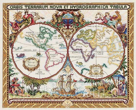 Вышивки старая карта