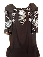 """Жіноча вишита блузка """"Білий орнамент"""" (Женская вышитая блузка """"Белый орнамент"""") BL-0046"""