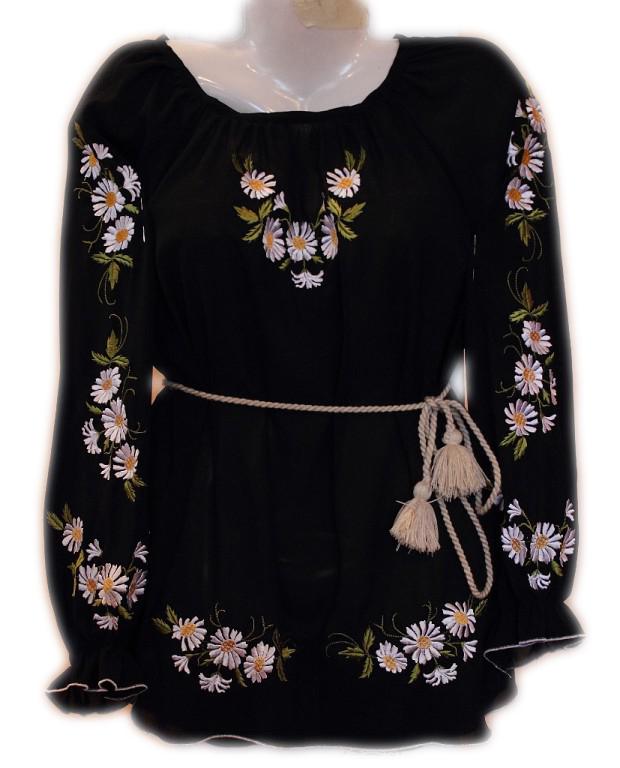 """Женская вышитая рубашка """"Ромашковая поляна"""" BL-0047"""