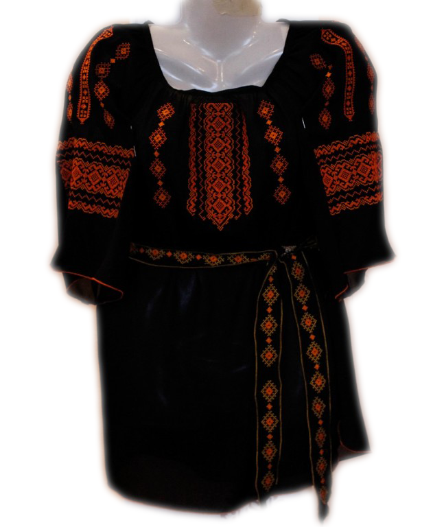 """Жіноча вишита блузка """"Гарячий узор"""" (Женская вышитая блузка """"Горячий узор"""") BL-0048"""