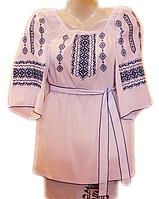 "Жіноча вишита блузка ""Синя краса"" (Женская вышитая блузка ""Синяя красота"") BL-0050"