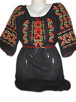 """Жіноча вишита блузка """"Трояндове поле"""" (Женская вышитая блузка """"Розовое поле"""") BL-0051"""