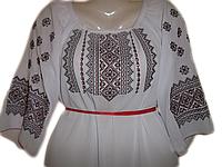 """Жіноча вишита блузка """"Червоний узор"""" (Женская вышитая блузка """"Красный узор"""") BL-0052"""