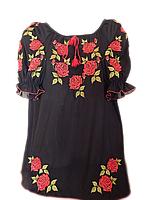 """Жіноча вишита блузка """"Шикарні троянди"""" (Женская вышитая блузка """"Шикарные розы"""") BL-0055"""