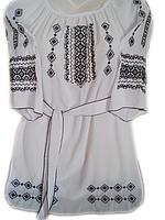 """Жіноча вишита блузка """"Темний орнамент"""" (Женская вышитая блузка """"Темный орнамент"""") BL-0056"""
