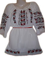 "Жіноча вишита блузка ""Пурпурові троянди"" (Женская вышитая блузка ""Алые розы"") BL-0060"