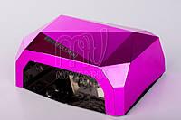 УФ лампа POWERFUL UV+LED для гель-лаков и геля 36 Вт (dark pink)