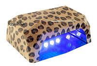 УФ LED+CCFL лампа для гель-лаков и геля 36 Вт (leopard)