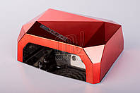УФ лампа POWERFUL UV+LED для гель-лаков и геля 36 Вт, с таймером 10, 20 и 30 сек. (light red)