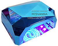 УФ лампа POWERFUL UV+LED для гель-лаков и геля 36 Вт (light blue)