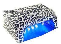 УФ лампа CCFL+LED DIMOND для гель-лаков и геля 36 Вт (leopard_white)