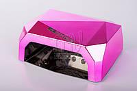 УФ LED+CCFL лампа для гель-лаков и геля 36 Вт, с таймером 10, 20 и 30 сек. (light pink)