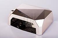 УФ лампа POWERFUL UV+LED для гель-лаков и геля 36 Вт, с таймером 10, 20 и 30 сек. (mirror)