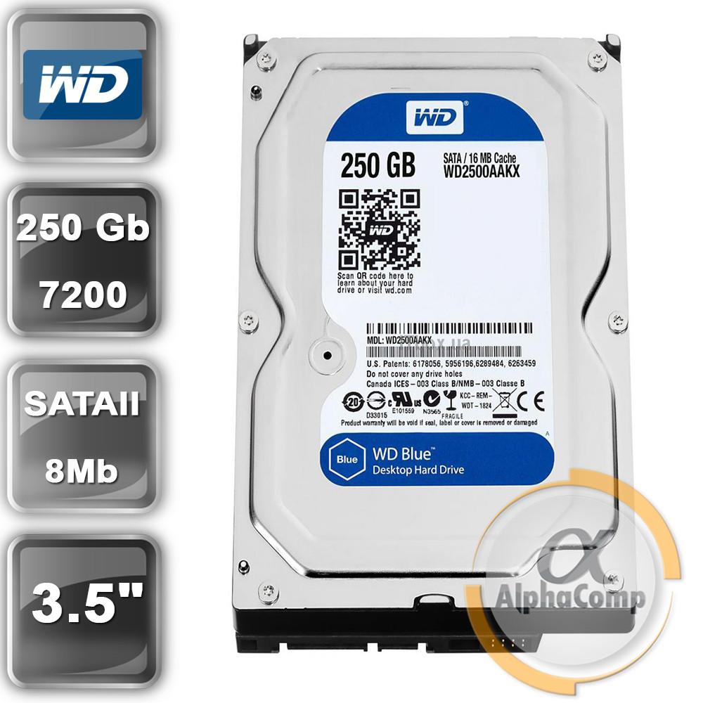 "Жесткий диск 3.5"" 250Gb WD WD2500AAJS (8Mb/7200/SATAII) БУ"