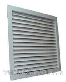 Решетка алюминиевая вентиляционная однорядная переточная РОП2