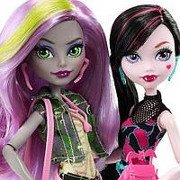 Monster High Набор кукол Дракулаура и Моаника Добро пожаловать в Школу Монстер Хай Draculaura and Moanica