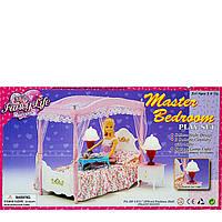 Мебель для кукол Gloria Спальня со светом
