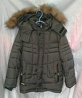Куртка детская зимняя  для мальчика 5-9 лет,хаки