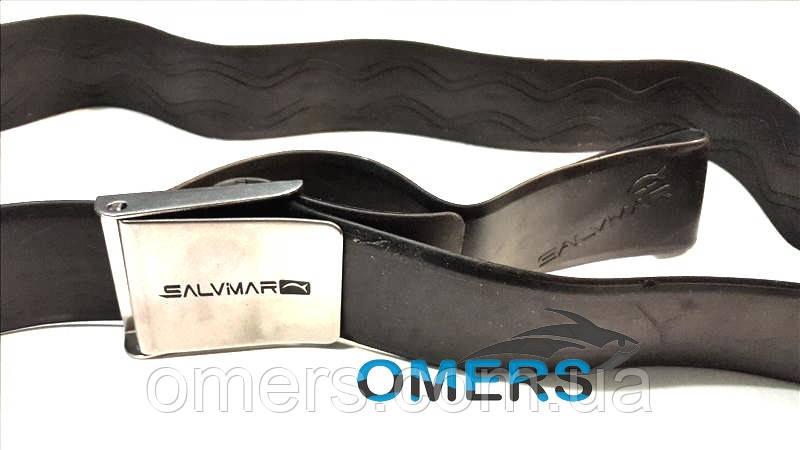 Грузовой пояс SalviMar резиновый со стальной пряжкой