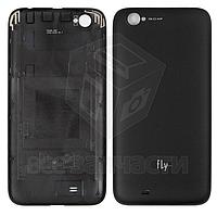 Задняя крышка батареи для мобильного телефона Fly IQ452 Quad, черная, original