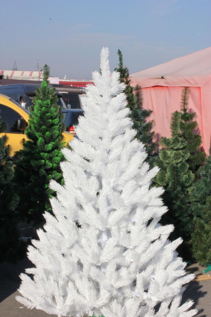 Елка литая белая 150 (см) иголки литая леска, кристально белая
