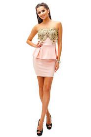 Коктельные короткие платья