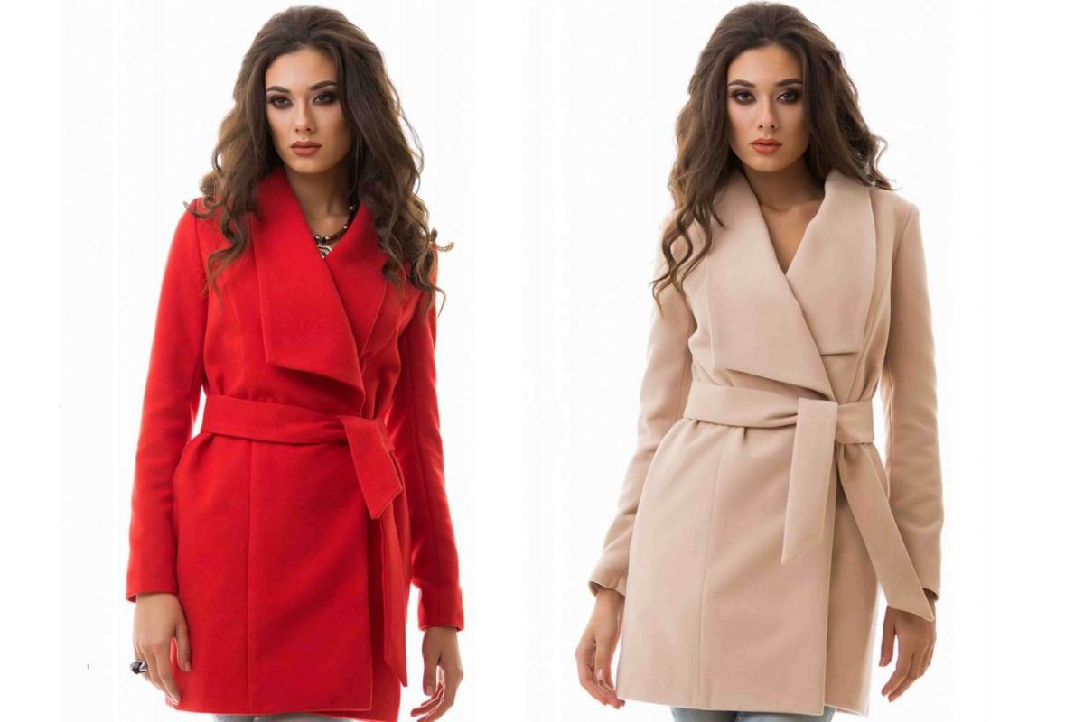 b5abaa812a44a Женское кашемировое пальто на запах - Web-покупки УСПЕХ - Модная одежда  оптом и в