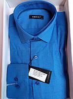 Рубашка DERGI мужская приталенная с длинным рукавом голубая код 7165-3