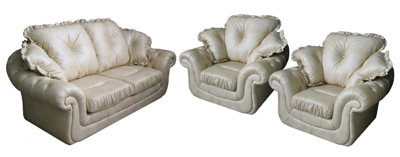 """Комплект кожаной мебели """"Brocard"""" (Брокард). (3р+1+1)"""