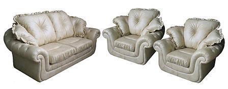 "Комплект кожаной мебели ""Brocard"" (Брокард). (3р+1+1), фото 2"