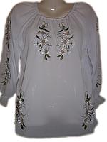 """Жіноча вишита блузка """"Тендітні ромашки"""" (Женская вышитая блузка """"Хрупкие ромашки"""") BL-0062"""
