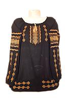 "Жіноча вишита блузка ""Золотавий узор"" (Женская вышитая блузка ""Золотистый узор"") BL-0063"