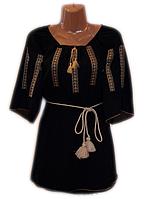 """Жіноча вишита блузка """"Тендітний орнамент"""" (Женская вышитая блузка """"Хрупкий орнамент"""") BL-0065"""