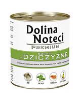 Dolina Noteci PREMIUM Консервы для собак с дичью, овощами и рисом 0,8 kg