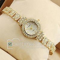 Часы наручные King girl diamond Gold/White