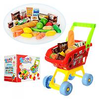Детская тележка для покупок с продуктами