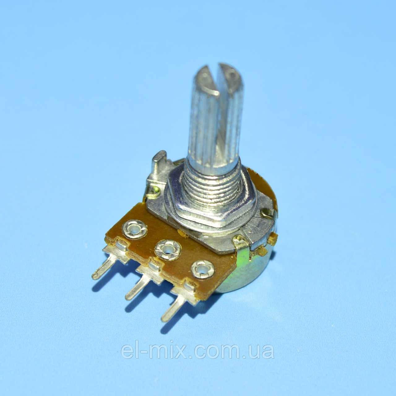 Резистор змінний WH148-1A-2B 3pin В1МОм L-20мм прямий