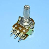 Резистор переменный сдвоенный WH148-1B-2B 6pin     B2КОм L-20мм прямой