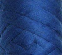 Толстая, крупная пряжа 100% шерсть мериноса. Цвет: Василек. 26-29 мкрн.