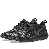 Оригинальные  кроссовки Nike Roshe Two Flyknit 365 Black & Black