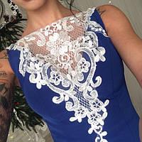Вечернее женское платье Алекс с кружевной вставкой на груди