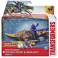 Оптимус Прайм и Гримлок - Optimus Prime&Grimlock, Dino Sparklers, TF4, Ha