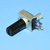 Резистор переменный R0901N 3pin     B1КОм L-20/H-6,5 горизонт. регулировка, Китай