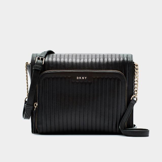 Женская кожаная сумочка через плечо DKNY